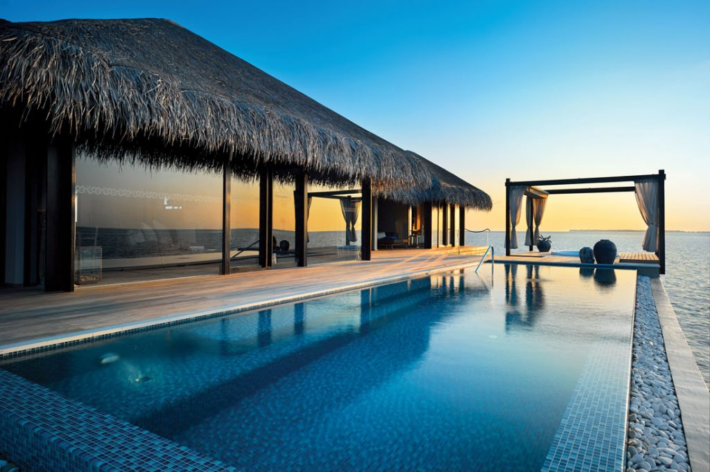Ocean Pool House Exterior at Velaa Private Island in the Maldive