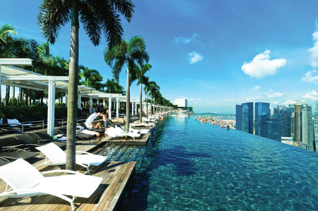 Pool in Marina Bay Sands hotel, Singapore