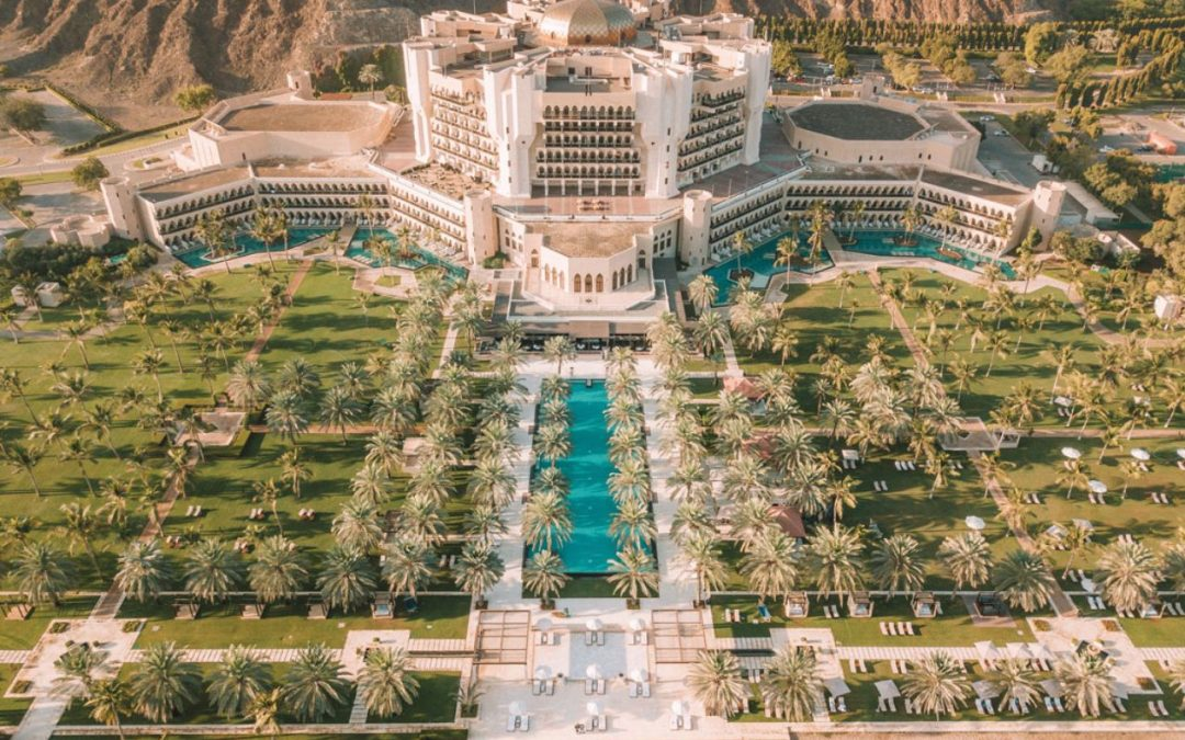 Al Bustan Palace, a Ritz-Carlton Hotel is the old-worldly accommodation you need to explore when in Muscat