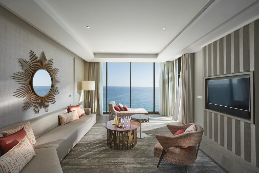 Two bedroom suite at Mandarin Oriental with sea views