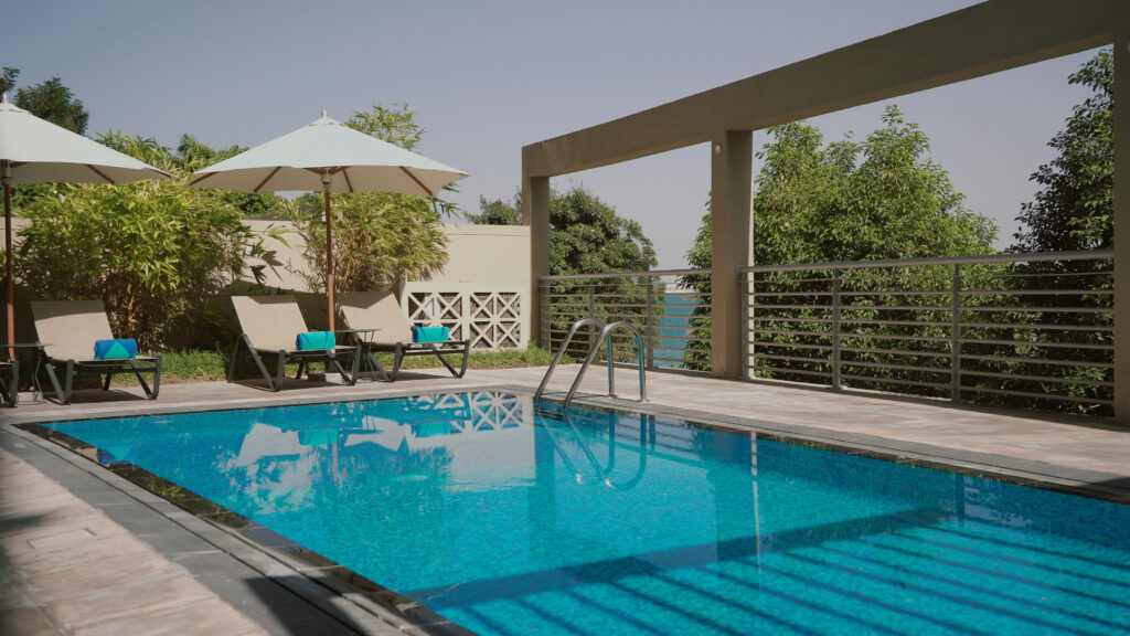 The private pool in the Rixos five bedroom suite