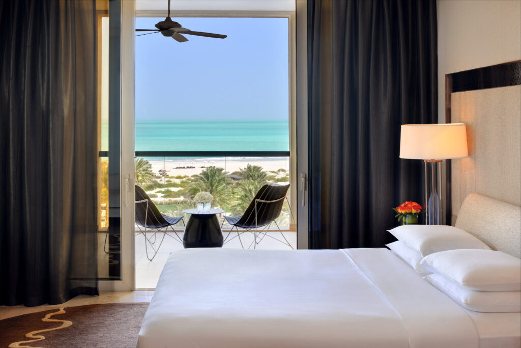 Sea view room at the Park Hyatt Abu Dhabi