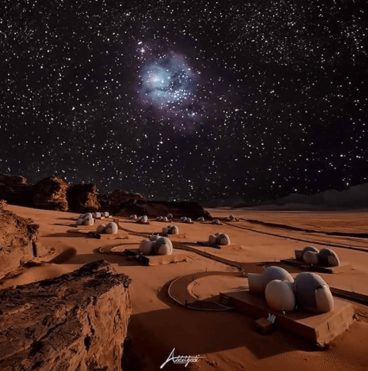 Bubble hotels under the stars at Wadi Rum