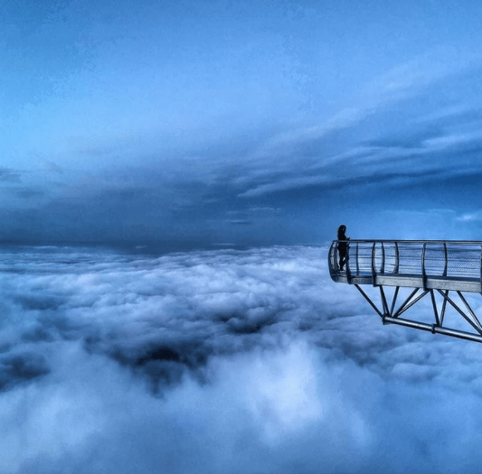 The clouds at Pic du Midi observatory