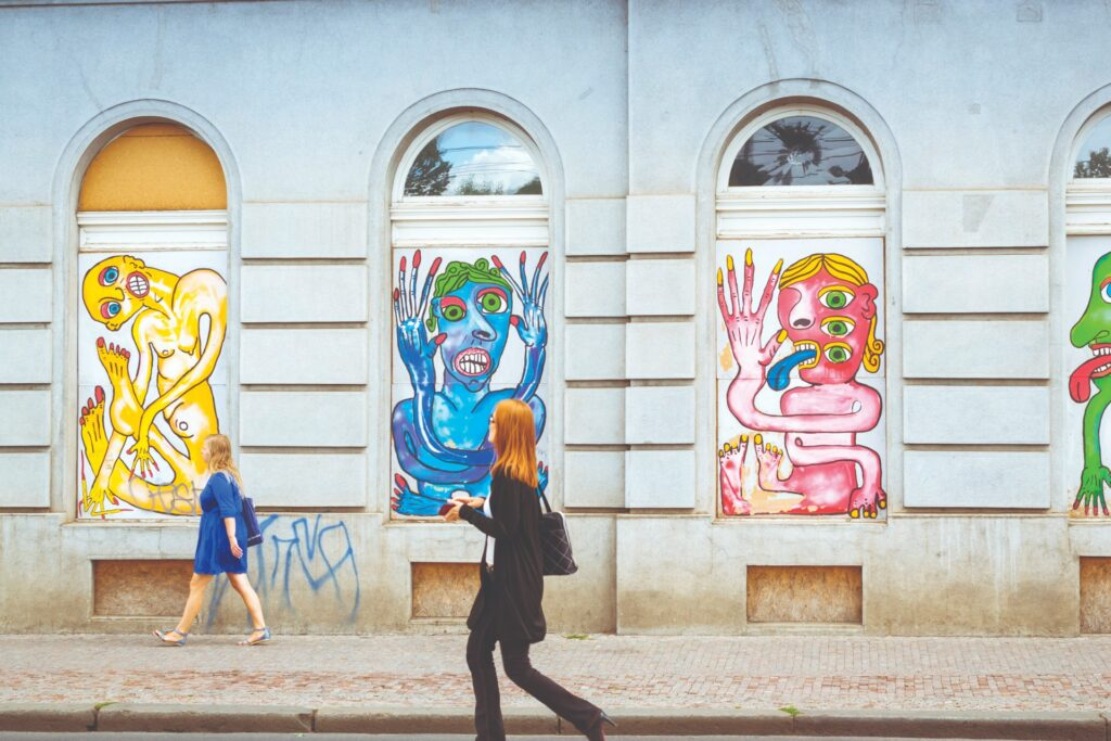 Street art in the old town of Prague