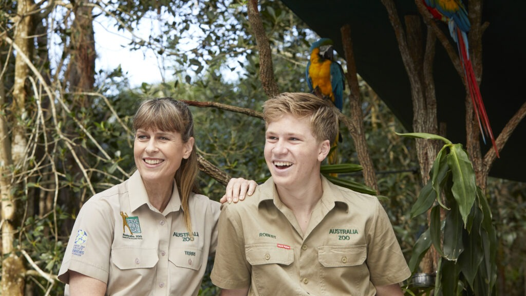 Terri and Robert Irwin share a passion for conservation