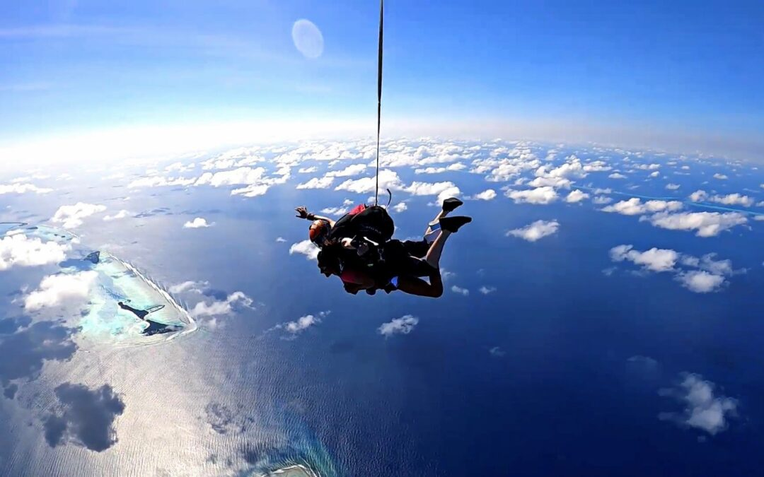 A new skydiving experience opens in the Maldives this month