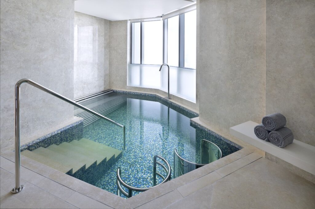 The Spa indoor hottub at Address Fountain Views