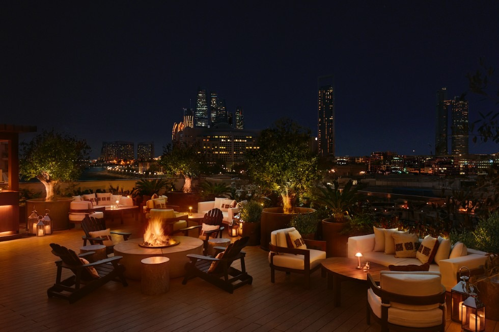 ANNEX rooftop with skyline view at night - Abu Dhabi EDITION