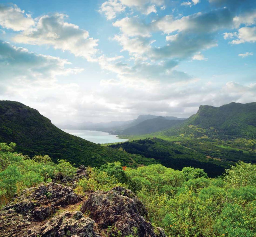 View from mount Le Morne Brabant. Mauritius island